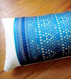 Blue Geo Sari Pillow