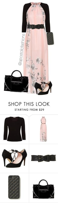 """""""Apostolic Fashions #830"""" by apostolicfashions ❤ liked on Polyvore featuring Precis Petite, PinkBlush, Kate Spade, Jane Norman, The Case Factory and Balenciaga"""