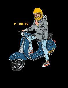 Iphone Background Wallpaper, Galaxy Wallpaper, Vespa Illustration, Shirt Logo Design, Graphic Art, Graphic Tees, Best Scooter, Vespa Scooters, T Shirt Photo