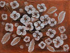 Blumengruß, Acrylbild 30x40cm