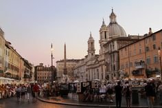 Piazza Navona in Rome - best people watching ever!!!