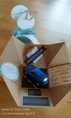 geschenkbox geldgeschenk f hrerschein auto von jessis. Black Bedroom Furniture Sets. Home Design Ideas
