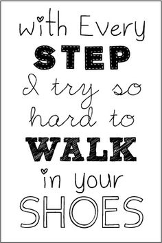 """Father's Day """"Walk in Your Shoes"""" Printable"""