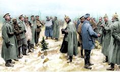 An illustration of the 1914 Christmas Truce published on Jan. 9, 1915 in the 'Illustrated London News'.