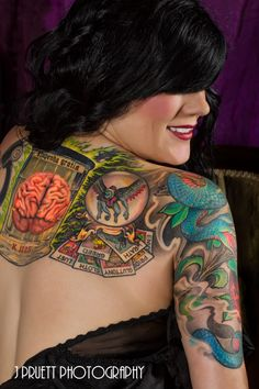 """Tattoo, from the shoot """"The Violin"""""""