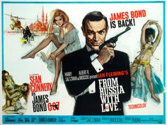 From Russia With Love. UK quad poster. Art by Italian film poster artist Renato Fratini.