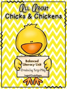 """""""Chicks & Chickens"""" is filled with activities to enhance your balanced literacy program. This unit contains fiction and nonfiction connections . Chicken Facts, Chicken Life, Hatching Chickens, Theme Words, Making Words, Text Evidence, Literacy Programs, Balanced Literacy, Authors Purpose"""