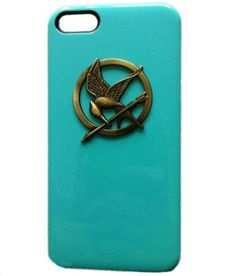 Fashion Punk Style Mobile Phone Protective Skin for Hunger Games iPhone 4/4S DIY Cell Phone Case Blue Bronze: Cell Phones