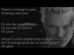 Billy Idol Flesh For Fantasy Lyrics I Do Not Own This Song Or Photo Material Video Has No Commercial Purposes
