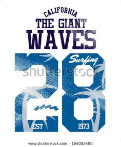 The Giant Waves surfer vector apparel . artwork for t-shirt print by GardenProject, via Shutterstock
