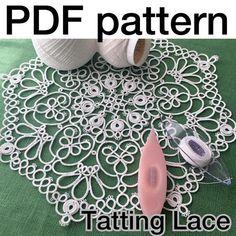 Hello world: Tatting Lace PDF Pattern Frivolite