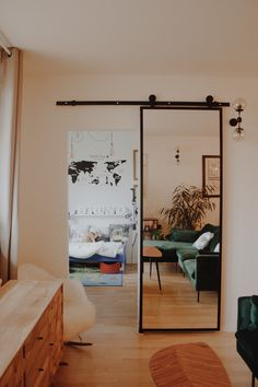 love this sliding mirror door Home Room Design, Home Interior Design, Design Bedroom, Aesthetic Rooms, House Rooms, Room Decor Bedroom, Home And Living, Home Decor, Mirror Door