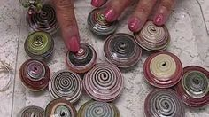 Double Bicone Paper Beads - YouTube