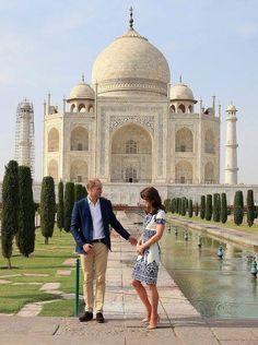 Kate and William, Taj Mahal April 2016.