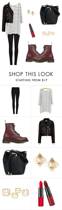"""Untitled #317"" by mariafilomena471 ❤ liked on Polyvore featuring Winser London, Dr. Martens, Étoile Isabel Marant, Michael Kors, Valentino and Rimmel"