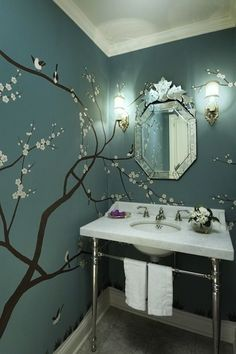 Really cute wall sticker looks great with the blue