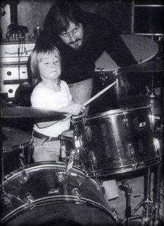 John and Jason Bonham in a rare pic  http://www.vintageandrare.com/category/Guitars-51