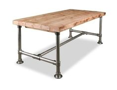 DIY Pipe Desk Plans, Pipe Table Ideas and Inspiration Pipe Table, Table Desk, Dining Table, Industrial Pipe Desk, Industrial Furniture, Furniture Vintage, Vintage Industrial, Diy Pipe, Desk Plans