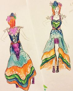 Great Barrier Reef themes dress!! Gonna suck to make out of just paper and be hella tedious but definitely willing to try!!  New update is so bright omfg my eYES #zfantisart by zfantisart http://ift.tt/1UokkV2