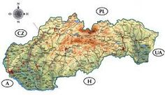 Slovakia detailed road and physical map. Detailed road and physical map of Slovakia. Map Wallpaper, Wallpaper Gallery, World Thinking Day, Bratislava, Physics, Activities For Kids, Mesto, Genealogy, Countries