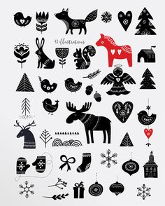 Scandinavian style Christmas bundle by Marish on can find Scandinavian christmas and more on our website.Scandinavian style Christmas bundle b. Scandi Christmas, Christmas Art, Modern Christmas, Christmas Tables, Christmas Graphics, Xmas, Christmas Quilting, Christmas Patterns, Holiday Tables