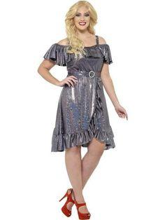 b9a178e8d8bea Women s Plus Size Curves 70s Disco Diva Costume