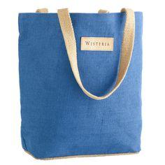 Wisteria.com  Small Jute Tote Bag