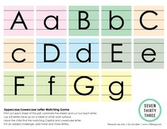seven thirty three - - - a creative blog: Uppercase/Lowercase Letter Matching Game