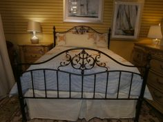 Haverty's Elizabeth bed in iron. Queen size.  Iron beds are always an easy way to change the look of your room. Arrived: Tuesday August 30th, 2016
