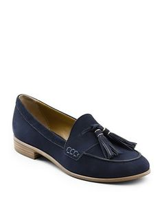 G.H. Bass Estelle Leather Loafers Women's Navy Blue 7
