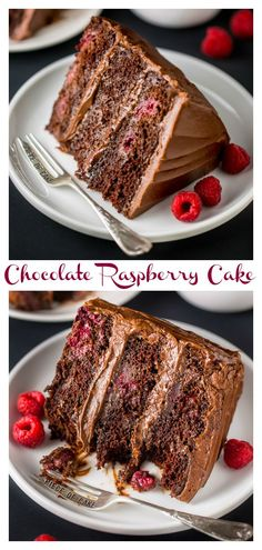Triple Layer Chocolate Raspberry Cake is a SHOWSTOPPER! Top with fresh raspberries for an extra lovely presentation.This Triple Layer Chocolate Raspberry Cake is a SHOWSTOPPER! Top with fresh raspberries for an extra lovely presentation. Food Cakes, Cupcake Cakes, Cupcakes, Homemade Chocolate, Chocolate Recipes, Just Desserts, Delicious Desserts, Jello Desserts, Chocolate Raspberry Cake