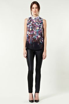 Stretched Floral Top... described as winter floral in Grazia