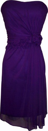 Strapless Stretch Mesh Knee-Length Gown With Florettes, Small, Purple PacificPlex, http://www.amazon.com/dp/B004NK88V6/ref=cm_sw_r_pi_dp_TfE1pb0ZZWZB6