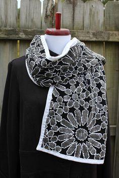 Alabama Chanin inspired scarf by Regina Moore, via Flickr