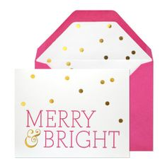We love receiving holiday cards just as much as we love sending them. Find the perfect holiday card for the upcoming holidays to help you celebrate the season in style. Nothing brightens a day than finding chic and sweet holiday cards in our mailboxes. See our top picks! 1. Be Merry