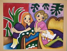 You Will Love Our Lovely Designs :): Acrylic Colour Painting -Girls