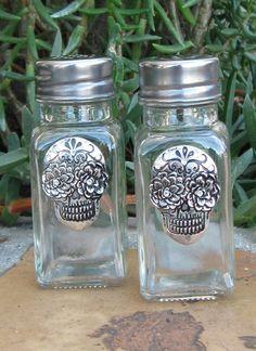 Salt & Pepper Shakers - Sugar Skull