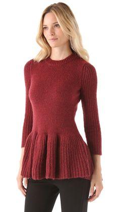 10 Crosby Derek Lam Peplum Sweater