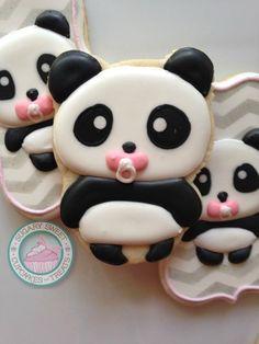 Image of Baby Panda Cookies (12Cookies)