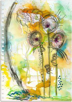 LITTLE art journal page, via Flickr.