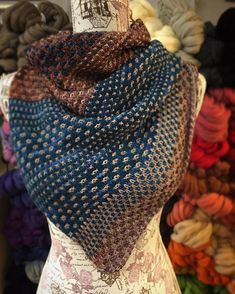 Check out how scrumptious Malabrigo& Arroyo looks in Drea Renee Knits& . Knitted Shawls, Crochet Shawl, Knit Crochet, Knit Scarves, Shawl Patterns, Knitting Patterns, Knitting Accessories, Women Accessories, Accessories Online