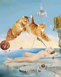 If there's any one thing that could improve a Botticelli painting, what would it be? Well, a big furry cat, of course! Okay, so obviously we're not serious, but that doesn't make this series of cat...