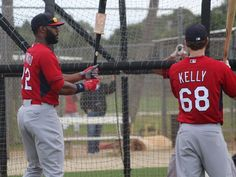 Jason Heyward and Carson Kelly. Spring training 2015