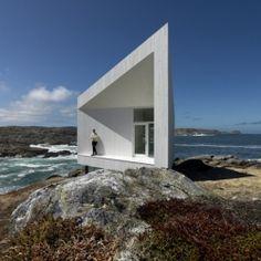 Saunders Architecture designed the Squish Studio on Fogo Island, Newfoundland, Canada.