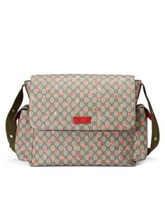 bf046f973174 Gucci Strawberry Print GG Canvas Diaper Bag Beige Multicolor New New with  Tags. Made