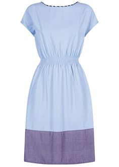 People Tree   Virginia Chambray Dress in Blue