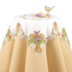 Easter Bunny and Eggs Table Linens