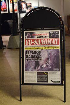 Yö Sanomista voi lukea lepakkoaiheisia uutisia. Tällä hetkellä kumma sienisairaus tappaa talvehtivia lepakoita. Luuppi, Oulu (Finland)