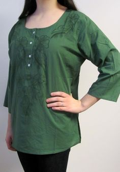 cotton long sleeve tunic tops evening tops cotton kurtis - affordable and beautiful on sale