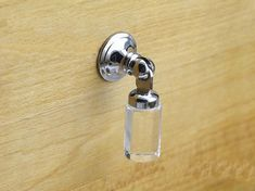 Crystal Drop knobs Dresser Drawer Pulls Knobs Handles Sparkly / Cabinet Knob Pull Handle Silver Clear Metal / Modern Furniture Hardware L20